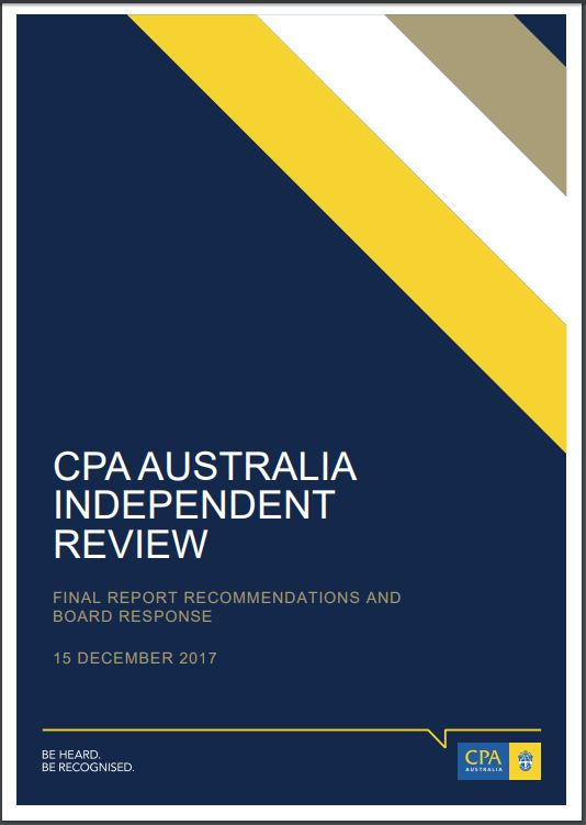 Learning from the CPA Australia Independent Review